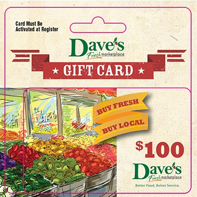 $100 Gift Card - Item # 44716 - Dave's Gift Baskets