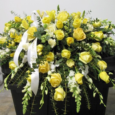 Funeral - Funeral Yellow Casket Spray